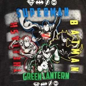 Justice League Long-Sleeved Shirt, Boys' Size L